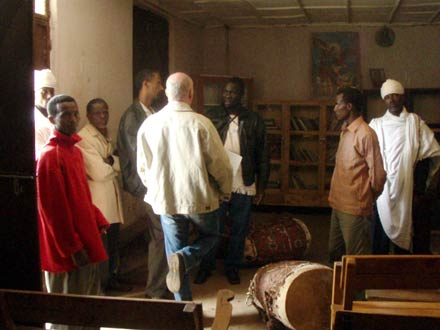 George Openjuru and Brian Street investigating local religious literacy practices in Ethiopia